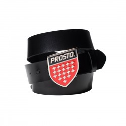 PASEK PROSTO KL LEATHER BELT SHIELD BK&RD