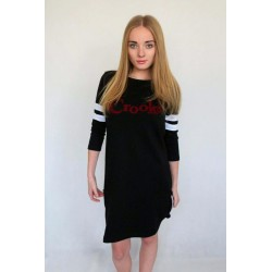 SUKIENKA CROOKS & CASTLES RUGBY DRESS BLACK