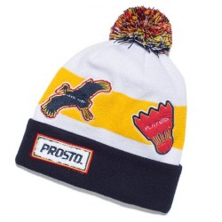 CZAPKA PROSTO FRESH VISION YELLOW WHITE
