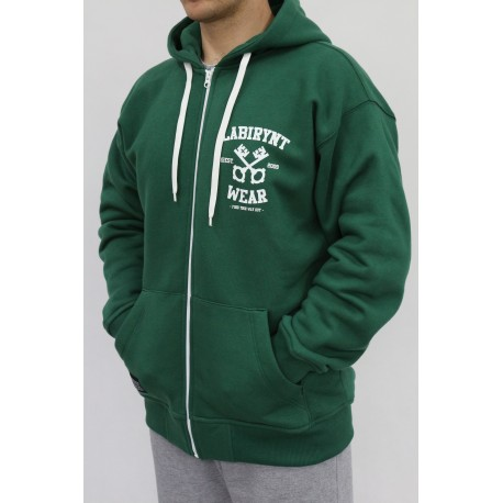 BLUZA MĘSKA LABIRYNT KEYS BOSTON GREEN HOODY