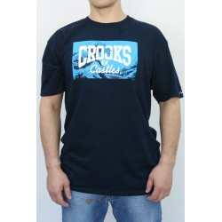 KOSZULKA MĘSKA CROOKS & CASTELS BIG WAVE NAVY