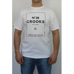 KOSZULKA MĘSKA CROOKS & CASTELS NO.38 CROOKS WHITE
