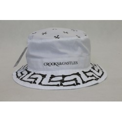 BUCKET HAT CROOkS & CASTLES WHITE