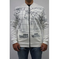 KURTKA MĘSKA ICHIBAN BOMBER JACKET IN WORLD MAP